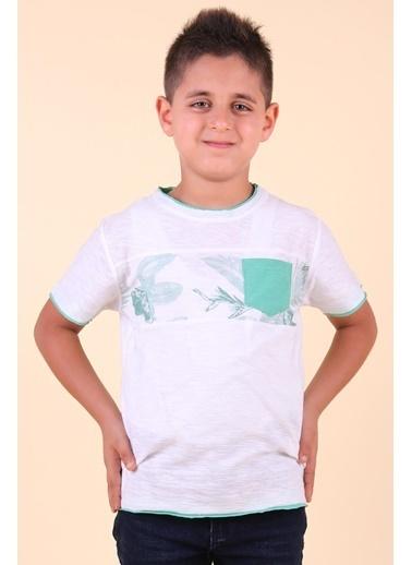 Breeze Erkek Çocuk Tişört Cepli Yaprak Baskılı Yeşil (5-14 Yaş) Yeşil
